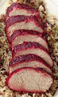 "Healthified Chinese BBQ Pork (Char Siu) 1/4 C. Vegetarian Hoisin Sauce 1/4 C. Rice Wine Vinegar 1/4 C. Honey 1/4 C. Reduced Sodium Soy Sauce 1"" Fresh Ginger Root, Chopped 3 Garlic Cloves, Chopped 1 Tbsp. Sriracha (Rooster Sauce) 1/2 Tbsp. Sesame Oil 1/2 Tbsp. Onion Powder 1 Tsp. Red Food Coloring (Optional.) 1 Tsp. Chinese 5 Spice"