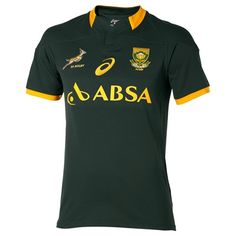 ASICS South Africa Springboks Rugby 2015 Home Shirt South Africa Springboks Home Replica Match Jersey 2014/15Watch your national heroes in your own green and gold jersey. Whether you™re at home or in the stadium itself, everyone will know who you ares http://www.MightGet.com/february-2017-2/asics-south-africa-springboks-rugby-2015-home-shirt.asp