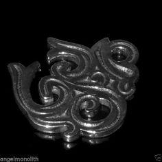 Mächtiges Om Aum Amulett Schutz Massiv 925 Sterling Silber Kraft Macht Stärke