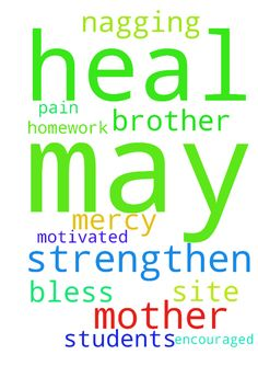 May the Lord heal and strengthen both my mother and - May the Lord heal and strengthen both my mother and brother. May He heal me of nagging pain too. May God have mercy May the students be encouraged and motivated in their homework. God bless you praying on this site. Amen. Posted at: https://prayerrequest.com/t/Ep3 #pray #prayer #request #prayerrequest