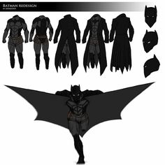 "I was thinking for a very long time about the Batman's costume about its symbology and its use, and I've re-imagine it thinking ""How would I make it if I was Batman?"" Here's what I've done: THE COA..."