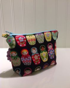 Nesting Dolls of the World makeup bag by PhoebeMade on Etsy, $15.00
