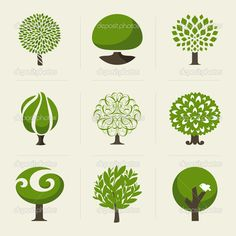Find Tree Collection Design Elements stock images in HD and millions of other royalty-free stock photos, illustrations and vectors in the Shutterstock collection. Thousands of new, high-quality pictures added every day. Icon Design, Logo Design, Graphic Design, Flat Design, Logo Arbol, Vector Trees, Forest Illustration, Flat Illustration, Tree Images