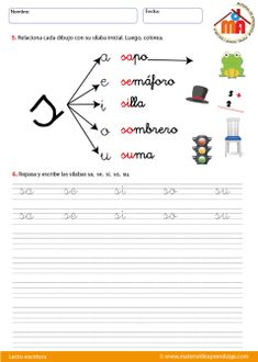 French Language Learning, Homeschool, Teacher, Teaching Supplies, Mental Map, Teaching, Activities, Word Reading, Beginning Sounds