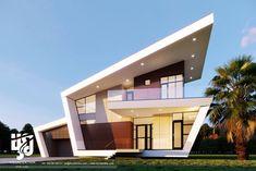 45 luxury modern house exterior design ideas – My Ideas Best Modern House Design, Modern Villa Design, Modern Exterior House Designs, Bungalow House Design, House Front Design, Modern Architecture House, Roof Design, Exterior Design, Sustainable Architecture