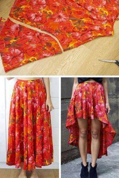 .Easy way to turn a normal skirt into a cool one