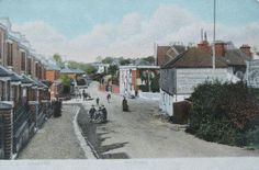 Old Shirley, now under Trebourba Way just past the tiled pub on the right.