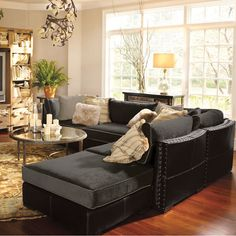I'll take one ski home in Switzerland.....and then this sectional.  Arhaus-Truffle 6 Piece Sectional