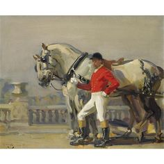 Sir Alfred James Munnings, The Lead Horse of the Royal Carriage