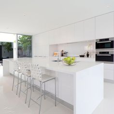 Luxury Small Kitchen Fantastic Prefab Kitchen Cabinets Designs That Will Be Huge In In 2019 Condo Kitchen, Living Room Kitchen, Kitchen And Bath, New Kitchen, Kitchen Remodel, Kitchen Ideas, Kitchen Decor, Bath Remodel, Kitchen Stools