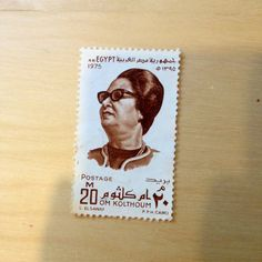 Um kalthoum 1975❤part of my father's world wide stamp collection.