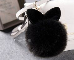 10cm Pom Pom Fur Rabbit Keychain Cute Fur Ball Bunny Key Chain Trinket Women Bag Charm Pendant Keyring Gift Llaveros K0001