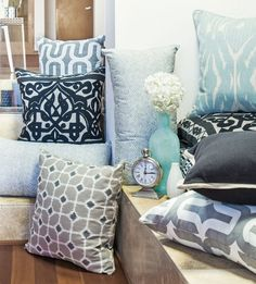 Pillows can refresh a room, bring it together, or establish a tone. Choose wisely. See all our accent pillows. #LivingSpaces