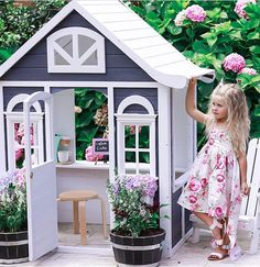 Living in australia is all about the great outdoors so what better way to e Kids Cubby Houses, Kids Cubbies, Play Houses, Wooden Outdoor Playhouse, Kids Vanity Set, Wendy House, Kids Canopy, Australia Living, Little Girl Rooms