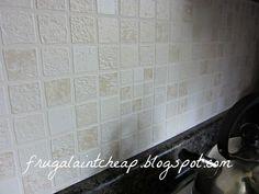 easy and inexpensive kitchen backsplash, home decor, kitchen backsplash, kitchen design, wipeable washable wallpaper