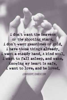To love and be loved ...