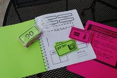Love this!  Students write math story problems using character and setting cards.  :)