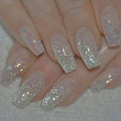 w that you have your top picks for summer nail art designs, what's the next st. - w that you have your top picks for summer nail art designs, what's the next st. Bride Nails, Wedding Nails, Cute Acrylic Nails, Cute Nails, Glitter Nails, Silver Glitter, We Heart It Nails, Nail Art Designs 2016, Champagne Nails
