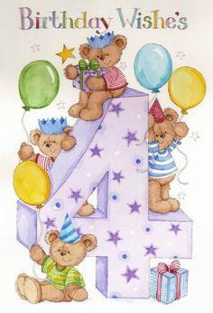 Birthday Wishes ~ 4 Happy Birthday Young Man, Happy Birthday Vintage, Happy Birthday Kids, Art Birthday, Birthday Card Sayings, Happy Birthday Messages, Birthday Greetings, Birthday Wishes, Birthday Cards