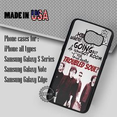 Troubled Soul Fall Out Boy - Samsung Galaxy S7 S6 S5 Note 5 Cases & Covers