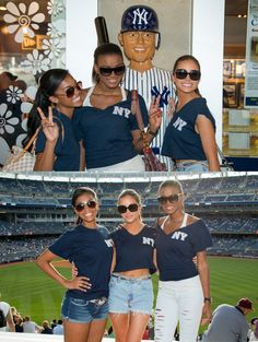 Fab trio! / Miss USA, Miss Teen USA & Miss Universe attend a Yankees game!  Miss Teen USA 2012Logan West, Miss Universe 2011Leila Lopes and Miss USA 2012Olivia Culpo attend the Baltimore Orioles Vs New York Yankees game http://www.pageantupdate.info