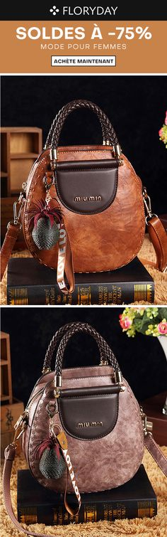 Flower Parrot Bird Round Leather Shoulder Bag Fashion Lady Crossbody Wallet Adjustable Top Handbag For Women Girl