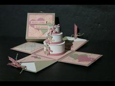 Explosionsbox zur Hochzeit Teil 1 mit Produkten von Stampin´Up! - YouTube