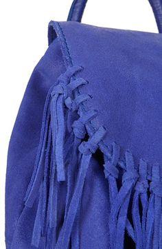 Topshop Suede Fringe Leather Backpack available at Chic Backpack, Leather Backpack, Fashion Backpack, Drawstring Backpack, Topshop, Nordstrom, Backpacks, Bags, Handbags