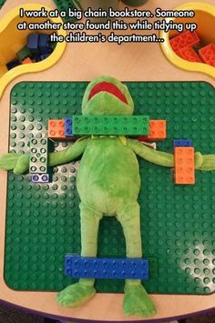 Kermit the frog has been tortured by  the unknown