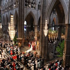 Westminster Abbey during the wedding of Prince William and Catherine Middleton on 29th April 2011