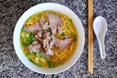 Hu Tieu Mi - Vietnamese Pork Noodle Soup by cathydanh, via Flickr