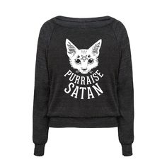 Every time you pet a cat, you pay homage to the deepest forces of evil which reside within it. Praise satan, pet your cat! The purring just means it's working. Make sure everyone knows you worship cat satan with this funny satanic cat shirt, complete with cat pentagram! | HUMAN
