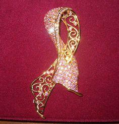 XRARE Camrose Kross Jacqueline Jackie Kennedy Filigree Pink Ribbon Brooch | eBay