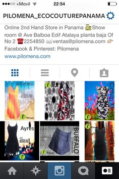 Siguenos en Instagram: Pilomena_ecocouturepanama