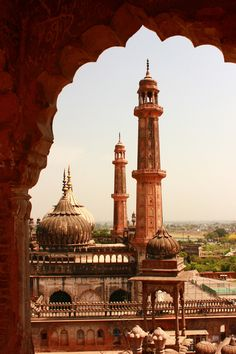 Asif Mosque, taken from a window of Bada Imambara, Lucknow, Uttar Pradesh, India