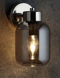Buy the Erin Wall Light from Marks and Spencer's range. Alcove Lighting, Living Room Lighting, Wall Lighting, Bedroom Alcove, Calm Bedroom, Master Bedroom, House Front Door, Wall Light Fixtures, Jar Lights