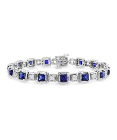 Take a look at this Sapphire & Silver Square Bracelet by Delmar on #zulily today!