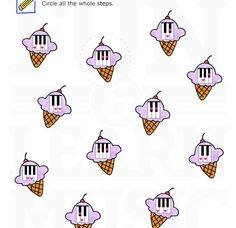 Yummy ice cream!  Music worksheets that kids love!