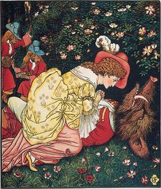 Beauty and the Beast Illustrated by Walter Crane  (British, Liverpool 1845–1915 Horsham)