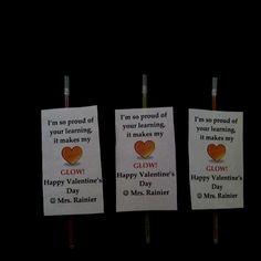 glowstick valentines for students