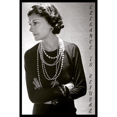 """Zarafet İnkardır"". Coco Chanel #chanel #cocochanel #fashion #different #reformoffashion"