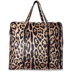 Steve Madden Bstella Handbag (€83) ❤ liked on Polyvore featuring bags, handbags, tote bags, leopard, tote handbags, steve madden tote bag, man bag, zip tote and handbag purse