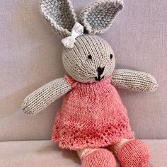 Soft and squishy cotton knitted bunny with a delicate lace dress! #bunny #knittedbunny #handmade #cotton #proudlysouthafrican #hellopretty #lovezabuyza