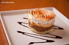 Marinado - Surpresa de banana com calda de chocolate (almoço)
