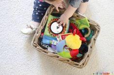 Un panier sensoriel pour amuser bébé