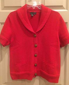 Jones New York Women's Brown Short Sleeve Cardigan Size Large ...