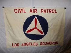 flag425 WW2 US CAP Civil Air Patrol LA Los Angeles Squadron flag