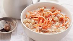 A great twist on healthy oatmeal if you like Carrot Cake!  Carrot Cake Oatmeal | The Biggest Loser