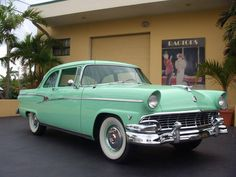1956 Ford Customline - Image 1 of 25 - Auto 2019 Car Ford, Ford Trucks, Ford V8, Vintage Cars, Antique Cars, Mercury Cars, Classic Car Restoration, Ford Lincoln Mercury, Ford Classic Cars