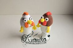 Krawka: Egg warmers/ Egg cozies - Hens. Free pattern for Easter table decoration